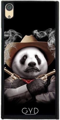 Hülle für Sony Xperia XA1 - Panda Crossguns by Adam Lawless