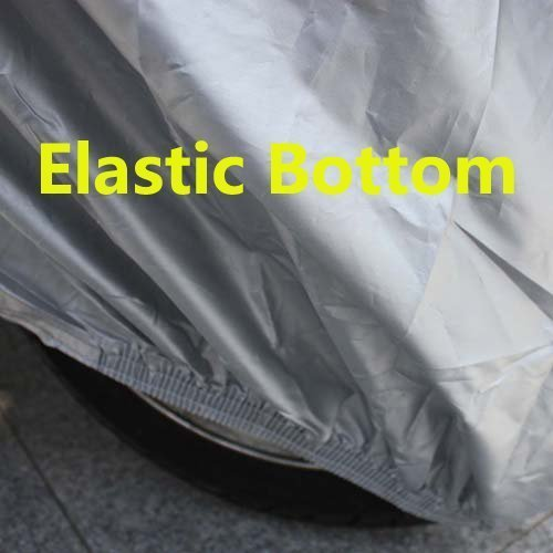 85*35*47 WM1HS Waterproof 2 Layer Deluxe Heavy Duty Cotton Lined Motorcycle Cover UV Protection