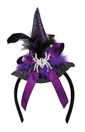 Tiara cappellino strega spindra viola con ragno gioiello
