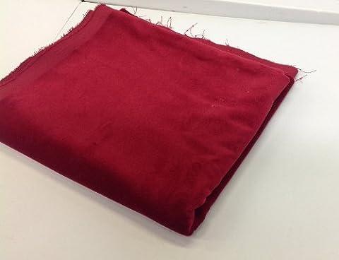 Claret (Red) Cotton Furnishing Velvet Fabric, Truly Sumptuous Range: Per