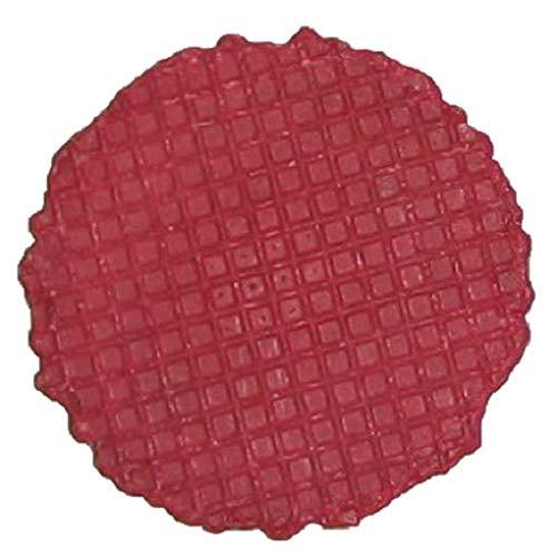 Cono per gelato Rosso | Ø60mm | 120 pezzi | Bottoncini di cialda croccanti per decorare coppe gelato, frullati & Co.