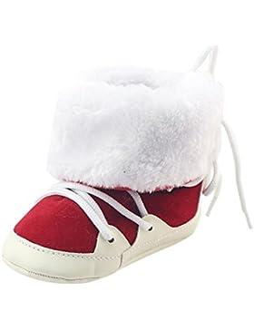 Clode® Baby Mädchen Jungen Krippe gebürstet Stiefel weiche Sohle Prewalker Warm Schuhe