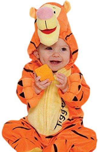 erdbeerloft - Baby - Jungen Süßes Tigger-Kostüm, Winnie Pooh, Tigerkostüm, Fasching, XL, Orange