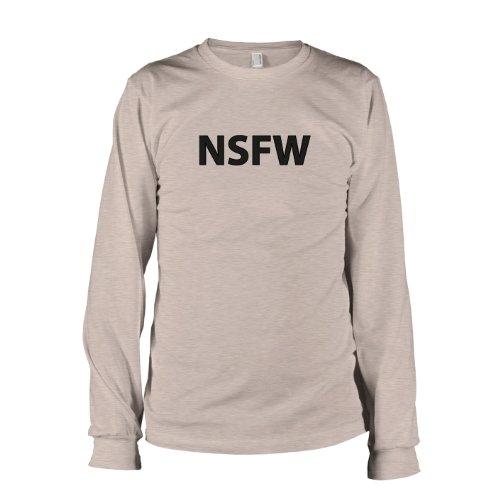 TEXLAB - Not Safe For Work - Langarm T-Shirt Graumeliert