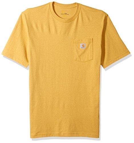 Carhartt Herren Big & Tall Workwear Pocket Short-Sleeve Arbeits-T-Shirt, Gold Heather, Large Hoch -