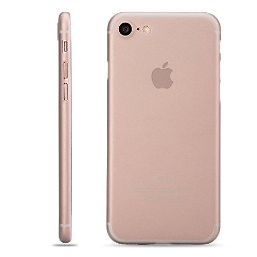LAMINGO iPhone 7 Hülle Slim Case Matt [Matt TPU - 2017 Edition] Schutzhülle Handyhülle in transparent Transparent