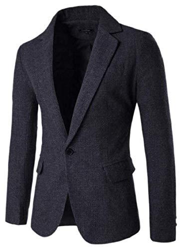 Herren Parka Mantel Langarm Stehkragen Mode Outerwear Trenchcoat Frühling Herbst Classic Casual Slim Fit Übergang Jungs (Color : Colour-2, Size : S)