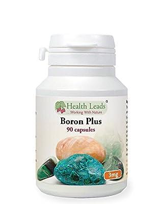 Boron Plus 3mg x 90 capsules by Health Leads UK