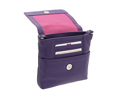 Mala Leather , Damen Umhängetasche, candy pink (Rosa) - 7106_40 candy pink