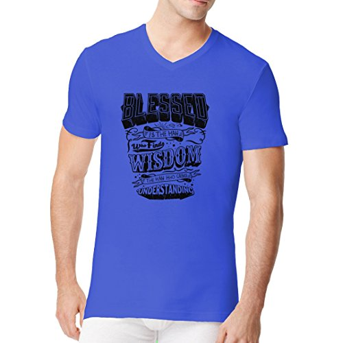 Im-Shirt - Blessed is the man cooles Fun Men V-Neck - verschiedene Farben Royal