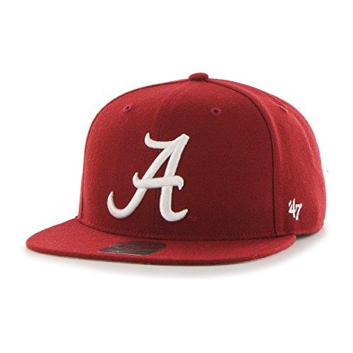 ncaa-alabama-crimson-tide-sure-shot-captain-adjustable-snapback-hat-one-size-razor-red