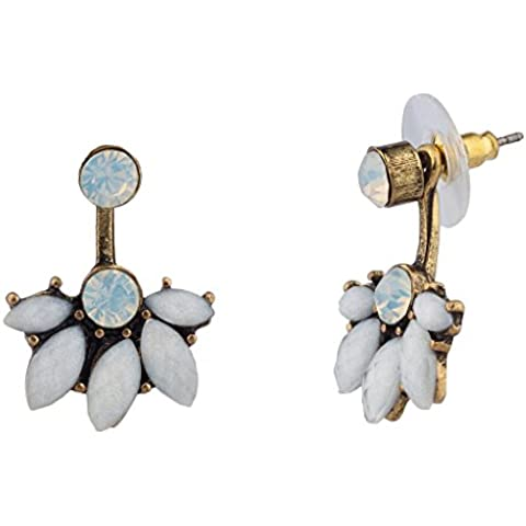 Lux accessori pietra di cristallo Foglia in metallo a sospensione
