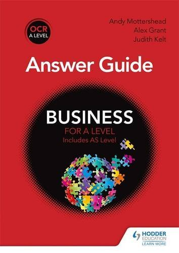 OCR Business for A Level Answer Guide by Andy Mottershead (2015-09-25)