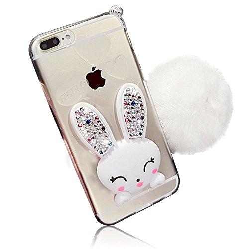 Sunroyal Custodia per iphone 7 plus, Trasparente Chiaro Morbido TPU Gel Silicone Protettivo Skin Custodia Protettiva Shell Case Cover Per Apple iphone 7 plus / 8 plus 5.5 (ciliegio) Modello 19