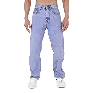 MENS AZTEC BASIC STRAIGHT LEG REGULAR FIT JEANS by AZTEC JEANS 36 Long Stonewash