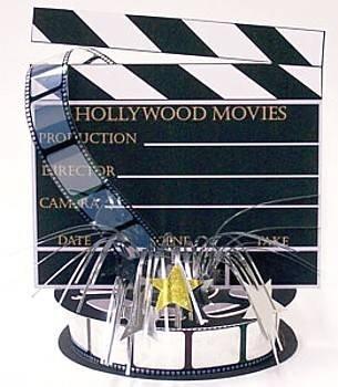 on, Hollywood, mit Folienfontäne (Movie Clapboard)