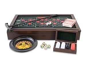 Casino Set 4en1 Roulette, Blackjack, Crap, Texas Hold'em