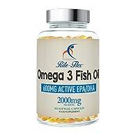 SCIENCES AU SOUTIEN :Les capsules Rite-Flex Omega 3 de concentré d'huile de poisson à 2000 mg contiennent 600 mg d'EPA actif et de DHA par portion de 2 capsules d'une huile de poisson pure sans contaminant pour fournir des quantités suffisantes d'aci...