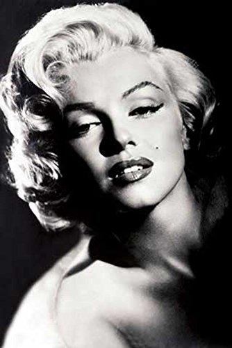 Monroe, Marilyn - Glamour - Filmposter Kino Movie schwarz-weiss Foto Marilyn Monroe - Grösse 61x91,5 cm + 2 St. Posterleisten Kunststoff 62 cm schwarz