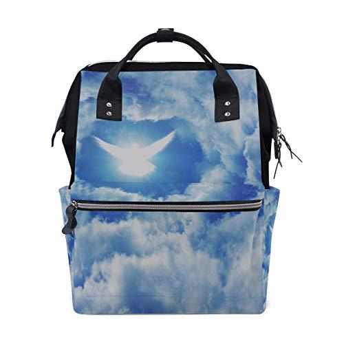 Heiliger Geist Fliegen Vogel Große Kapazität Wickeltaschen Mama Rucksack Multi Funktionen Windel Pflege Tasche Tote Handtasche Für Kinder Babypflege Reise Täglichen Frauen