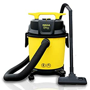 Inalsa Vacuum Cleaner Wet and Dry Micro WD10-1000W with 3in1 Multifunction Wet/Dry/Blowing| 14KPA Suction and Impact Resistant Polymer Tank,(Yellow/Black)