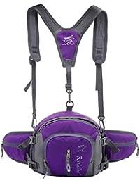 Tradico® Nylon Backpack Messenger Shoulder Fanny Pack Waist Bum Bag Handbag Purple