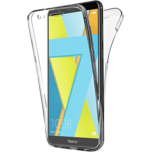 Buyus Coque Gel Honor 7X Coque 360 Degres Protection Integral Anti Choc, Etui Ultra Mince Transparent Invisible pour Honor 7X, Coque Honor 7X