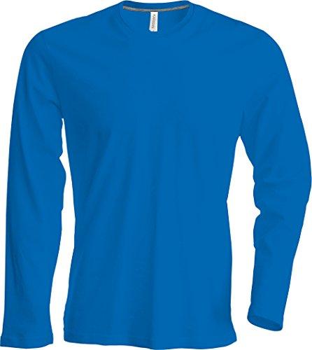 Herren T-Shirt langarm von notrash2003 (L, Royal) (Langarm-shirt Blau)