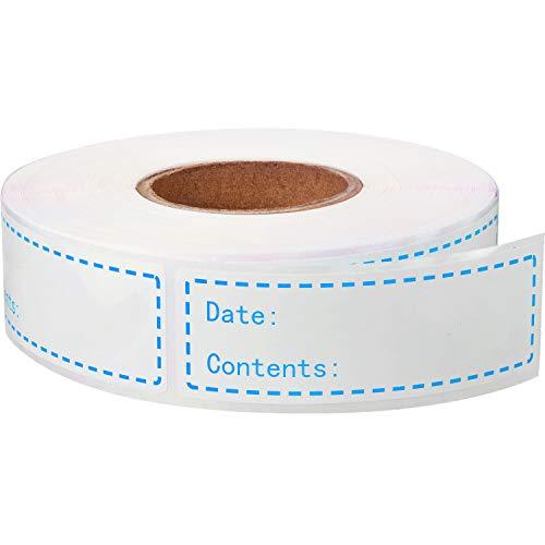 500 Stücke Lebensmittel Gefrierschrank Etiketten 1 x 3 Zoll Selbstklebende Entfernbar Aufbewahrung Kühlschrank Lebensmittel Datum Etiketten Leicht zu Reinigen Blätter Kein Rückstand (Blau)