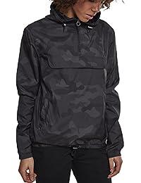 Urban Classics Damen Camouflage Übergangsjacke Ladies Camo Pull-Over Jacket, leichte Streetwear Schlupfjacke, Windbreaker Überziehjacke für Frühjahr und Herbst