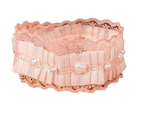 Entièrement 2pcs/lot chat chien Vintag–Collier Femme–Cravate Mariage Dentelle Perle 36–41cm