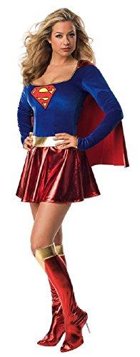 Supergirl Kostüm Deluxe - Generique - Sexy Supergirl-Kostüm Deluxe für Damen XS