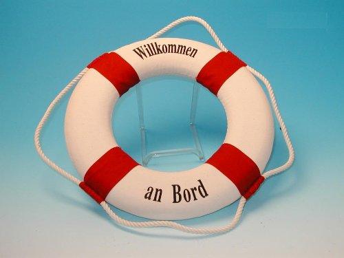wattkiste Deko-Rettungsring rot/weiss, 35 cm Willkommen an Bord