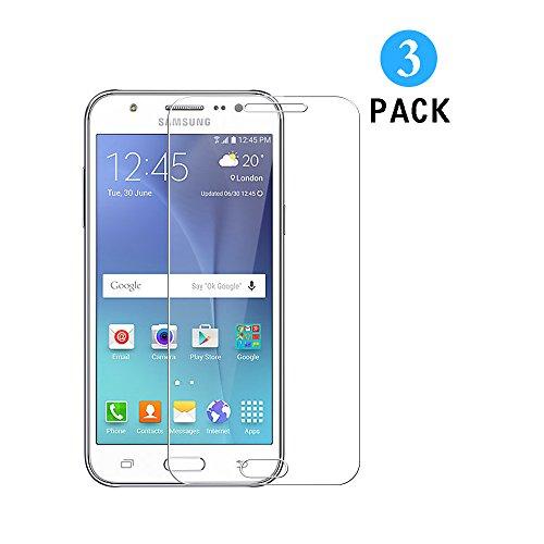 WEOFUN Samsung Galaxy J5 2015 Panzerglas Schutzfolie,3 Stück Bildschirmschutzfolie Panzerfolie für Samsung Galaxy J5 2015 Schutzglas Folie [0.33mm, 9H, Ultra-klar]