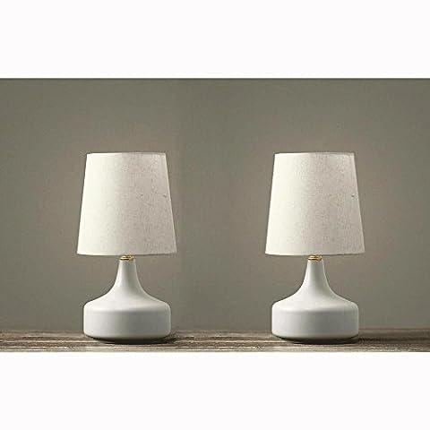 2er Set Tischleuchte Schmiedeeiserne Backen Geschmeidig komfortabel Tischlampen , white