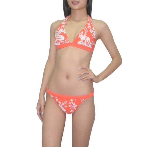2pcs-set-old-navy-women-sexy-top-bottom-dri-fit-swimsuit-medium-orange-white