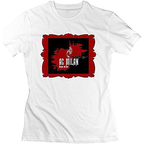 xj-cool Milan Fútbol mujer manga corta Blanco