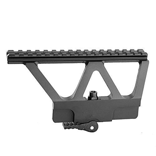 WENQUAN-AC, AK Seitenschienenmontage Schnellmontage der QD-Pistolenschienenbasis mit Picatinny-Seitenschienenmontage for AK 47 AK 74 Schwarz -