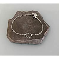 Bracelet nuage, Bracelet femme gourmette nuage en argent, bracelet femme, idée cadeau, bijoux cadeaux, constellation, bracelet femme argent