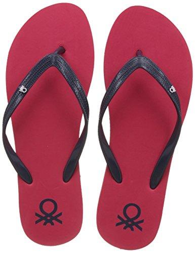8. United Colors of Benetton Women's Red Flip-Flops