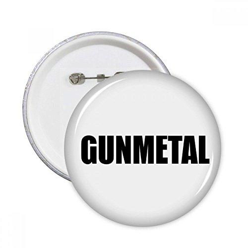 DIYthinker Gunmetal Farbe Schwarz-Name Runde Pins Abzeichen-Knopf Kleidung Dekoration 5pcs Geschenk Mehrfarbig S - Gunmetal Bekleidung