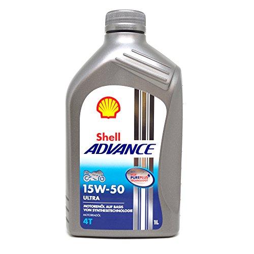 Shell Advance Ultra 1525001 Huile pour moto à moteur 4 temps SAE 15W-50 1 l
