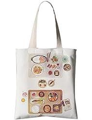 Fleurs de style japonais Sac à bandoulière Illustrator Sac de voyage Shopping Cuisine délicieuse