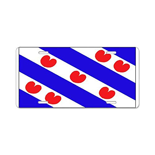 Friesland Frisian Blank Flags Custom Personalized Aluminum Metal Novelty License Plate Cover Front Auto Car Accessories Vanity Tag- 6x12 Inches Blank Wall Plate Cover