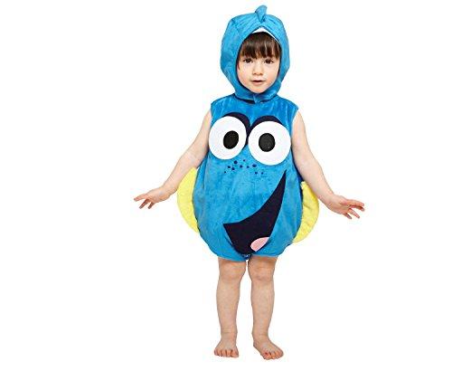 Nemo Und Kostüme Dory (Amscan DCDOR-TA012 - Kinderkostüm Dory Plüschüberwurf mit Mütze, 80 - 86)
