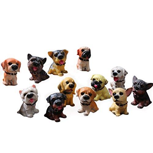 Descripción Este encantador juego de decoración para auto contiene 12 piezas de juguetes con un hermoso diseño de perro. Material de resina, añadirá diversión y una hermosa adición a su experiencia de conducción. Definitivamente son una excelente man...