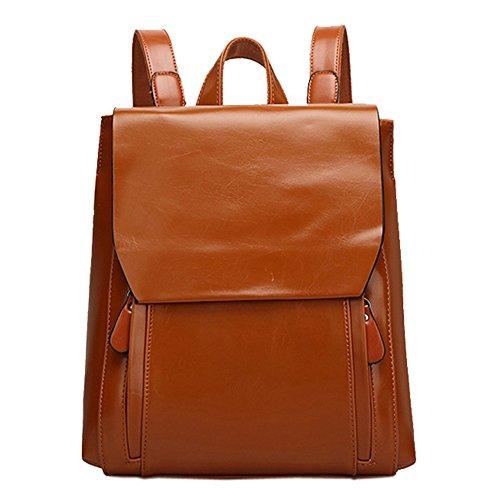 mujer-un-solo-color-pu-bolsos-mochila-carteras-de-mano-marron
