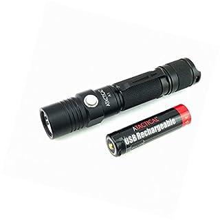 WOWTAC A1 Taschenlampe; praktisch und superhell, 550 Lumen Cree LED kaltweiss, IPX7 Wasserfest, 5 Einstellungen Low/Mid/High/Trubo/Strobo für Campen, Wandern, Fahrradfahren und Notfälle