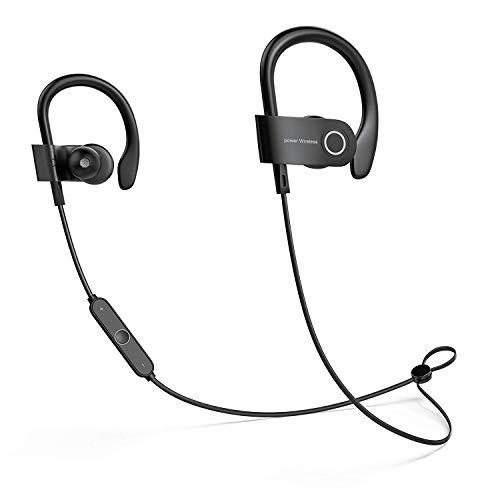 Busuo - Auricolari sportivi Bluetooth 4.2, wireless, per corsa, sport, con microfono a cancellazione del rumore