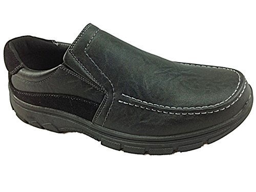 Foster Footwear ,  Jungen Unisex Erwachsene Mädchen Herren Damen Brogue Schnürhalbschuhe LS27: Black